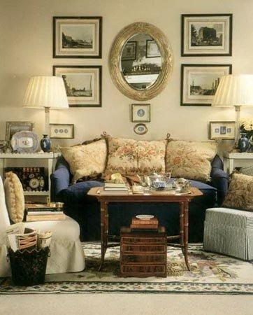 客厅吊顶装修效果图之简欧田园风格