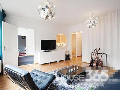 阅繁华悦简单 90平米小户型装修样板房高清图片