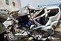 组图:荆州一面包车与工程车相撞 事故致5死1伤