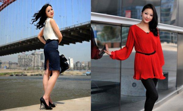 街拍武汉地标美女:美人如玉桥如虹