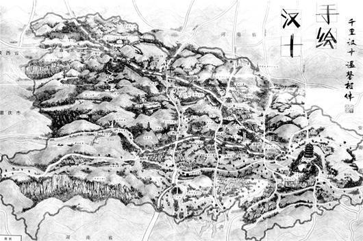 汉十发布高速公路手绘地图