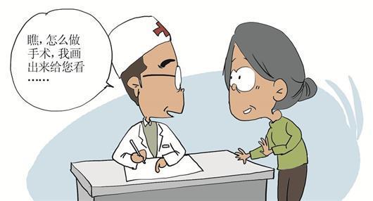六旬聋哑患者求医 医生画图顺畅沟通手术方案