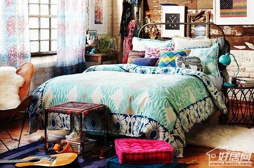 手绘古代寝室