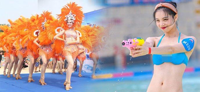 酷暑降临江城 万人比基尼派对来袭