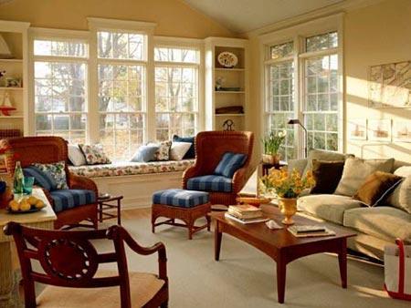 卧室飘窗窗帘效果图:飘窗变身休息室-卧室飘窗设计 角落里的精美小