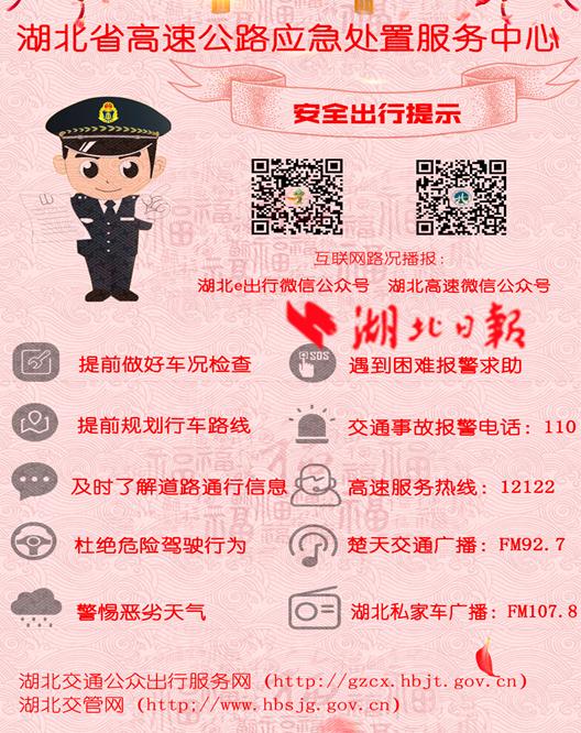 2018湖北高速春节出行指南:可避开10大易堵路段
