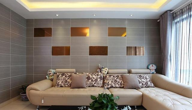 客厅瓷砖上墙效果图_客厅地砖效果图2018款
