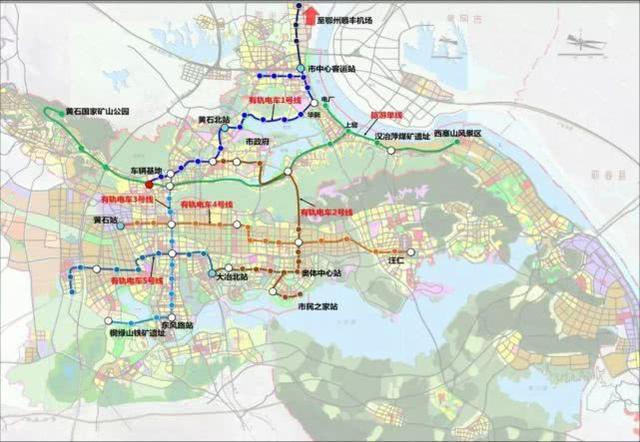 黄石有轨电车明年将开工建设 看看经过你家吗?