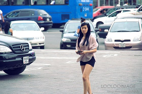 网友实拍外蒙美女 旅游频道