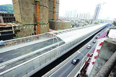 珞狮路高架桥及水果湖隧道建成 5月10日拟通车