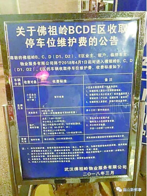 武汉一小区停车费分三六九等 还建房业主免费