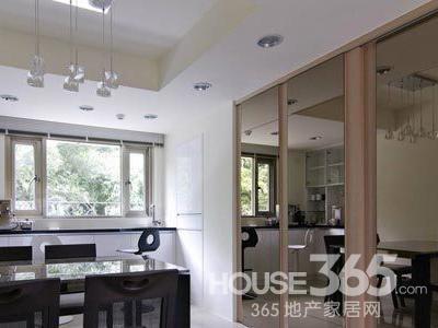 开放式厨房玻璃隔断 空间设计技巧图片