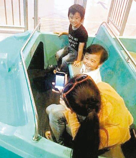 张柏芝与两个儿子游玩 补祝32岁生日(组图)
