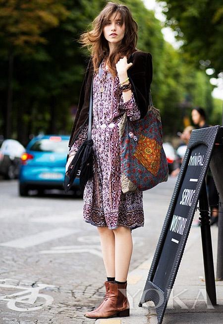 看时装周捧红的单品 及踝靴得要尖头款