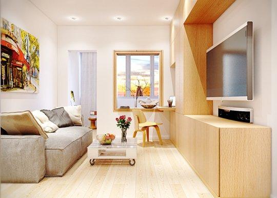 设计重点   :电视柜+茶几设计   :设计师采用拉长式吊灯设...