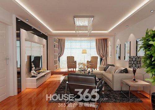 客厅吊顶装修效果图:现代简约风格