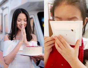张梓琳生日晒照美如少女 胖妹吃蛋糕小手抢镜
