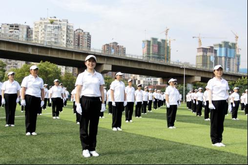 """近千名市民参与第十一个""""全民健身日""""湖北黄石分会场活动"""