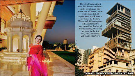 印度首富炫耀世界最昂贵住宅 装修造价超过10亿美元