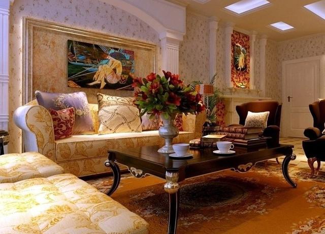 低调奢华欧式客厅装修美图 多彩感受由此开启