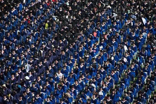 武汉大学毕业典礼。(长江日报记者 任勇 摄)