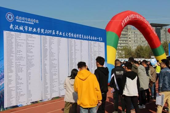 武汉都会职业学院进行2018年秋季大型雇用会