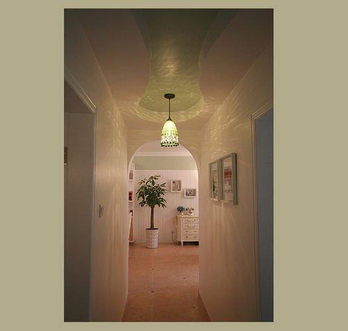 两点透视室内手绘图卧室(地中海风格)