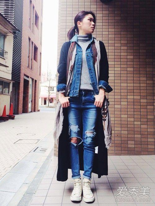 多层外套穿搭 守住钱包又有全新风格