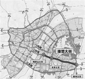 雄楚大街将建全程高架 将串联三条环线(图)