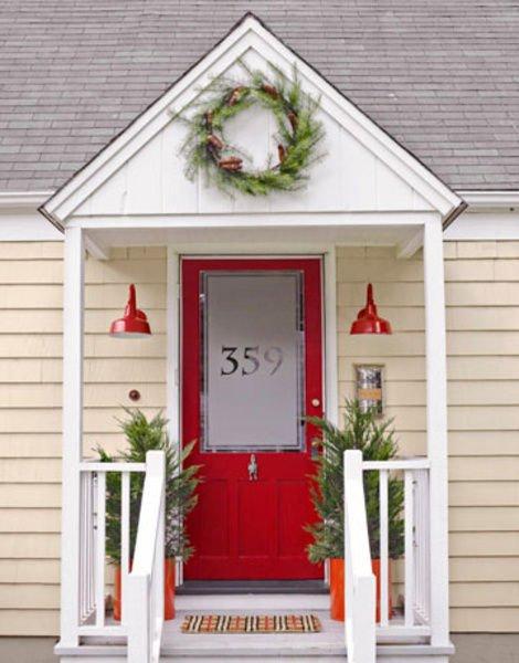 对抢眼 15座住宅红色大门设计