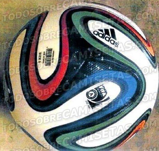 巴西世界杯官方用球曝光 炫目配色显大气(图)