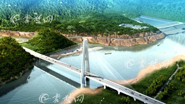 郧西天河口大桥开始建设 总投资3.54亿元(图)