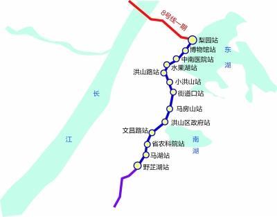 武汉地铁8号线二期明年开工 将下穿东湖风景区