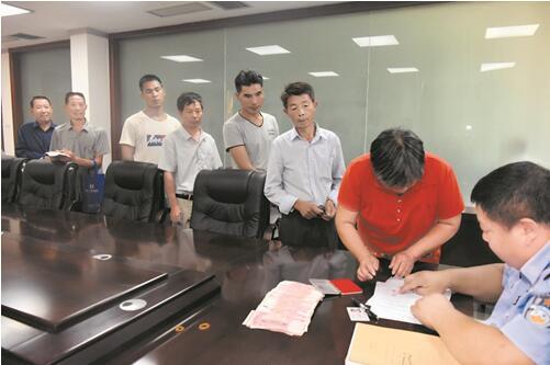郧阳警方刑拘老赖 为13名农民工追回4.7万元工资
