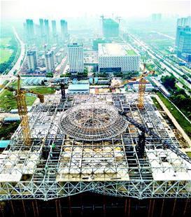 湖北省科技馆新馆封顶 未来球幕影院将令人惊艳