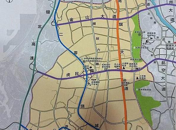 ▲虎民路和高旗大道交汇处示意图