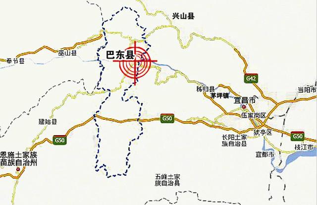 宜昌到兴山地图