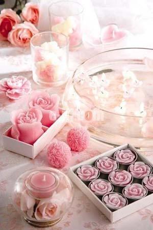 七夕情人节情迷餐桌 布置浪漫烛光晚餐