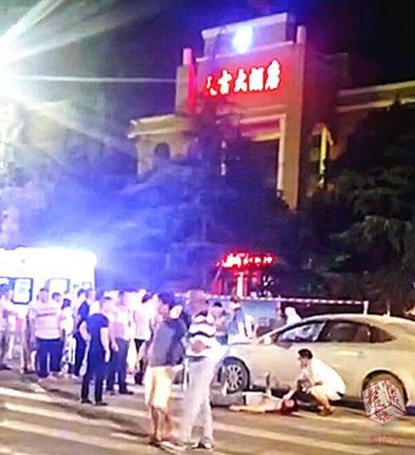 黄冈发生一起车祸 司机酒驾撞倒4人致3死1伤