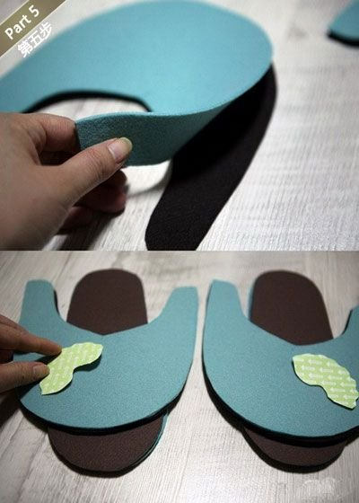 diy达人教你制作可爱拖鞋