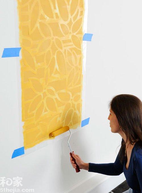 很多简单的手绘墙面可以采用这种方法,不复杂,但最后呈现出来的效果
