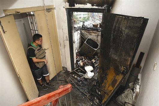 黄石一居民家洗衣机起火 消防设施存严重隐患