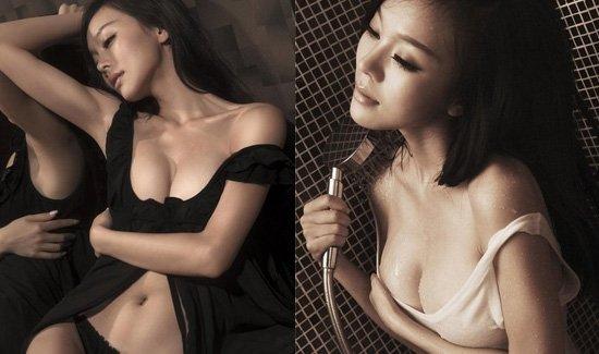 《一路向西》女主角莫绮雯内衣湿身写真