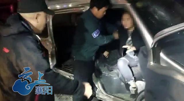襄阳发生一起两车相撞事故