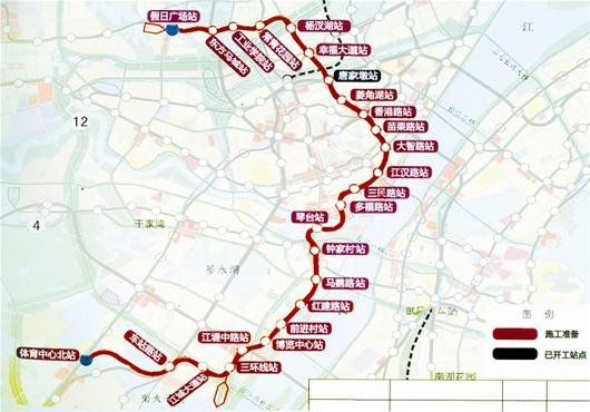 图为:6号地铁线线路图-图文 武汉地铁迎来A时代图片