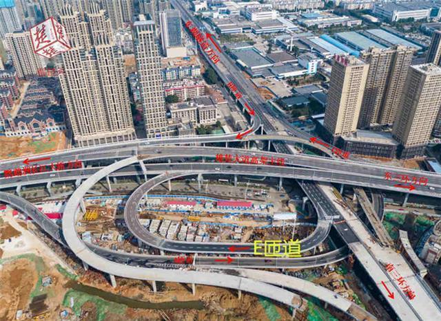 长飞立交E匝道今日通车 东三环与东湖隧道互通
