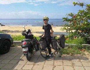 七天行600公里 武汉初中生春节骑行半个台湾岛
