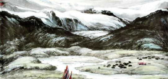 画生态 草原,湿地变成了荒漠,画图以存证 在青海几十年的生活,对王广