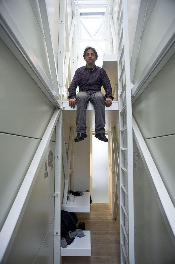 世界上最小房子!不到1米宽 你敢去住吗?