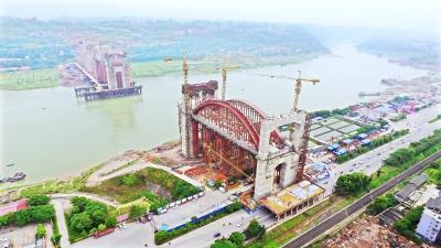 铁大桥局建造的世界最大跨度公铁两用钢箱拱桥——宜宾金沙江公铁